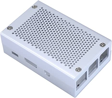 Raspberry Pi 3 Caso Caja de Aluminio Plateado Carcasa Compatible ...