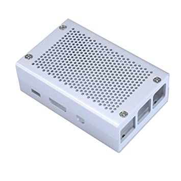 Raspberry Pi 3 Caso Caja de Aluminio Plateado Carcasa ...