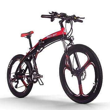 RICH BIT Modelo TOP-880 36V * 9.6AH Mans Bicicleta Plegable Eléctrica 26 Pulgadas