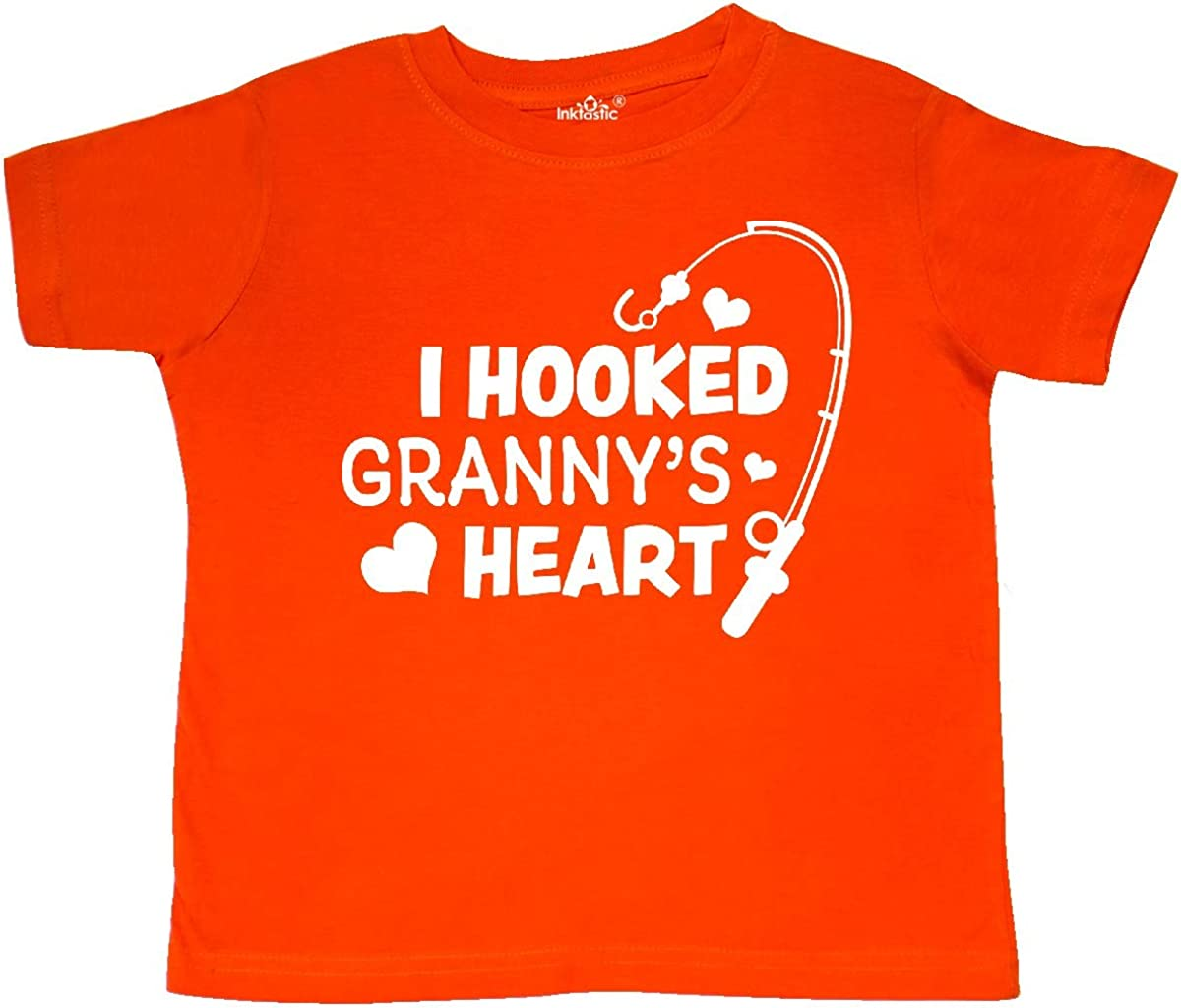 inktastic I Hooked Grannys Heart with Fishing Rod Toddler T-Shirt