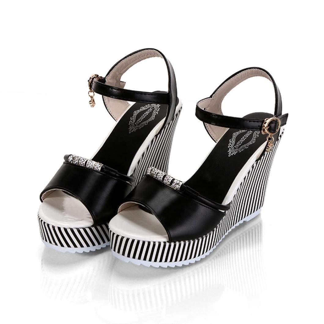 d48e2156bf92 Women Summer Sandals HEHEM Women Fish Mouth Rhinestone Platform High Heels  Sandals Buckle Slope Sandals Boots Gladiator Sandals Flat Sandals Girls  Sandals