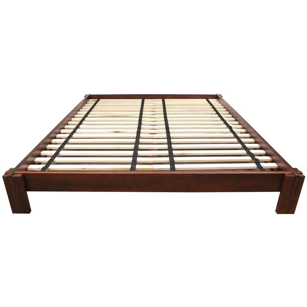 . tatami platform bed  walnut  twin amazonca home  kitchen