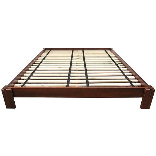 amazon oriental furniture tatami platform bed walnut queen kitchen dining japanese plans pdf california king build