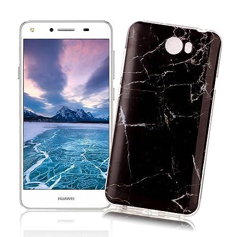 XiaoXiMi Funda Huawei Y5 II/Y5 2 con Textura de Mármol Carcasa de Silicona Slim Soft TPU Silicone Case Cover Funda Protectora Carcasa Delgado Ligero ...