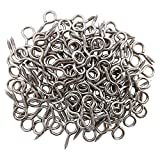 Axe Sickle Small Screw Eye 1 inch Eye Screws 100PCS Metal Eye Hook Eye Shape Screw Hooks Self Tapping Screws Hooks Ring, Silver Color Zinc Plated Eyelet Hooks.