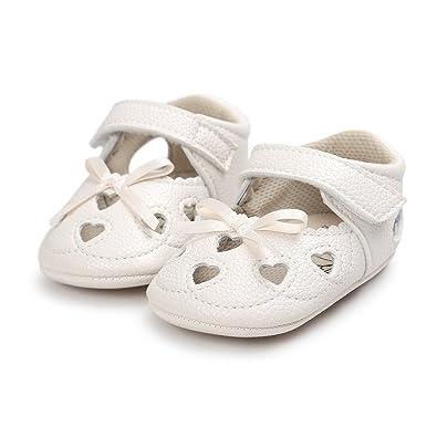 d47076d82ef4 Meckior Infant Baby Girls Sandas Summer Soft Leather No-slip Princess Shoes  (0-
