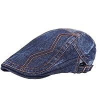 Leisial Sombrero de Boina Vaquera Gorra con Visera Casquillo Vintage Sencilla Ocio al Aire Libre Sombrero del Sol Protector Solar para Unisex-Adult,Azul Oscuro