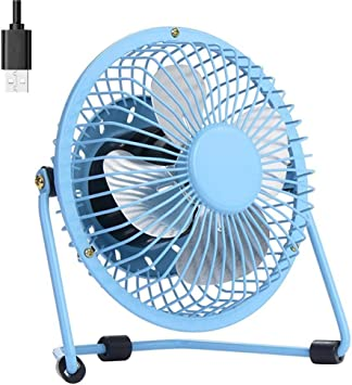 USB Powered ONLY No Battery Classic Mini Personal Fan Portable Desk Desktop Table USB Fan for Office Room Outdoor Traveling Picnic