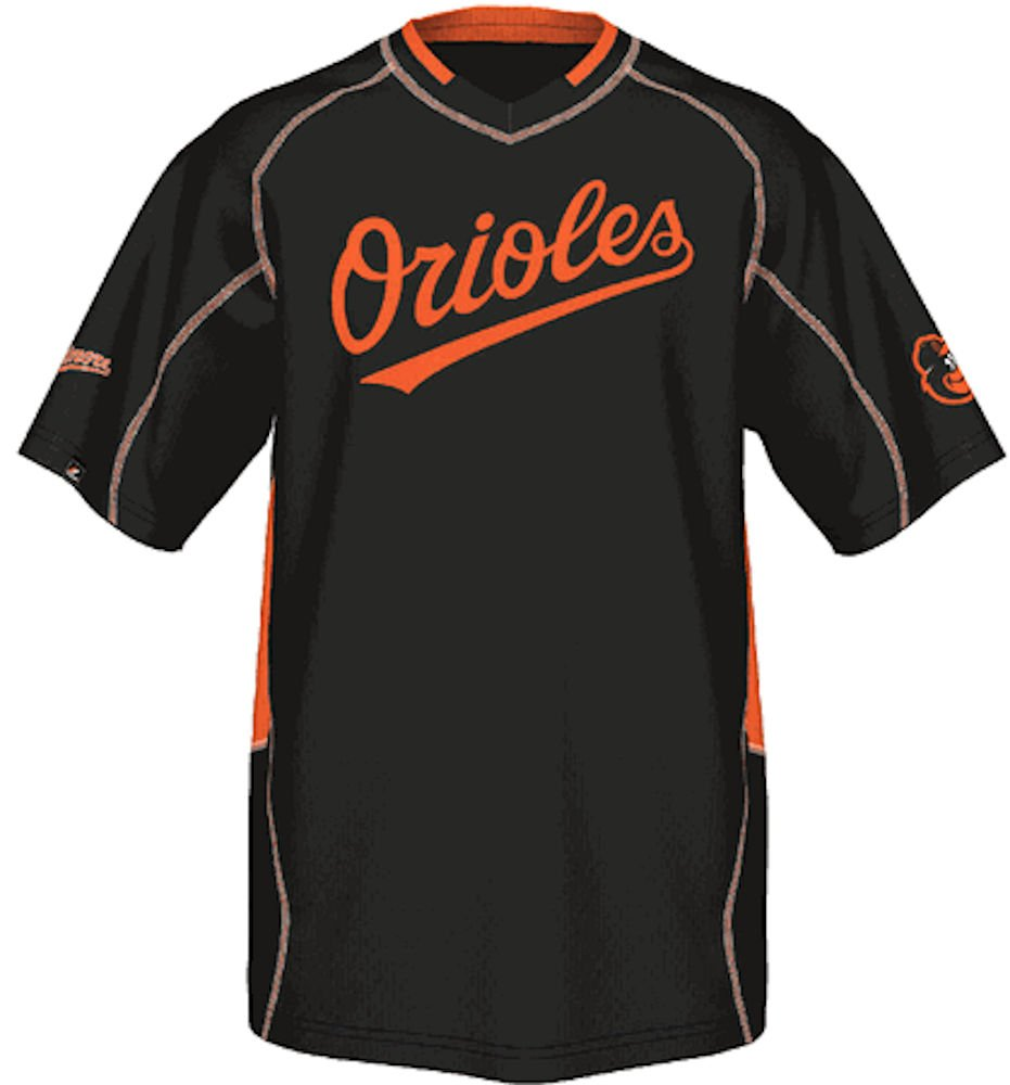 10c2ec7f3 Baltimore Orioles MLB Fast Action Synthetic V Neck Jersey by Majestic chic
