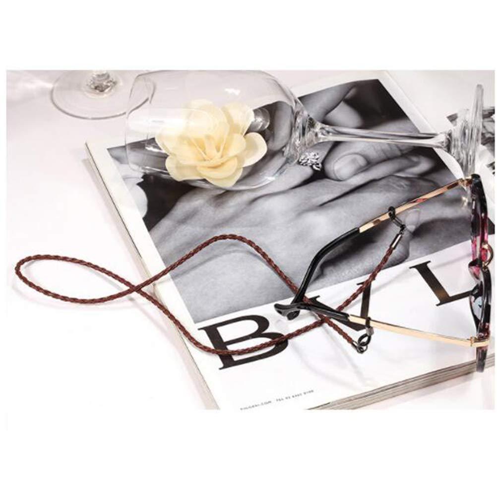 VORCOOL Occhiali da Vista del Cinturino in Silicone Occhiali da Vista Stringa Collana degli Occhiali Cordino per Occhiali Fermo per Uomo e Donna Bambini Marrone