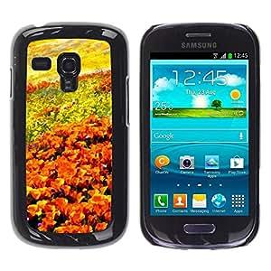Be Good Phone Accessory // Dura Cáscara cubierta Protectora Caso Carcasa Funda de Protección para Samsung Galaxy S3 MINI NOT REGULAR! I8190 I8190N // Flowers Field Painting Art Orang