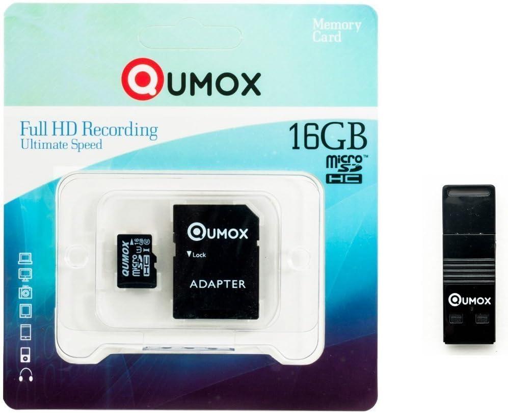 QUMOX 16GB Tarjeta Memoria Micro SD Clase 10 UHS-I 16 GB R con Lector USB OTG: Amazon.es: Electrónica