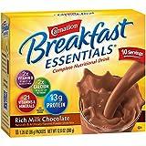 Carnation Breakfast Essentials Powder Drink Mix, Rich Milk Chocolate, 10 Count Box of 1.26 oz Packets