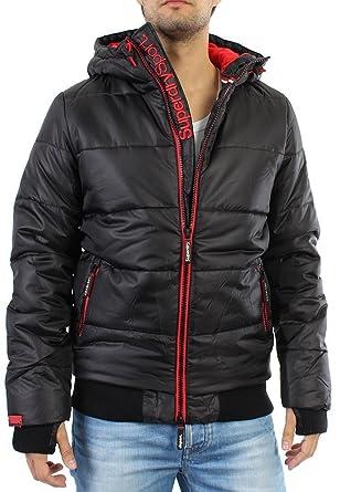 1addf896e77f Superdry Polar Sports Puffer Jacket Men - Black Rebel Red - Black ...