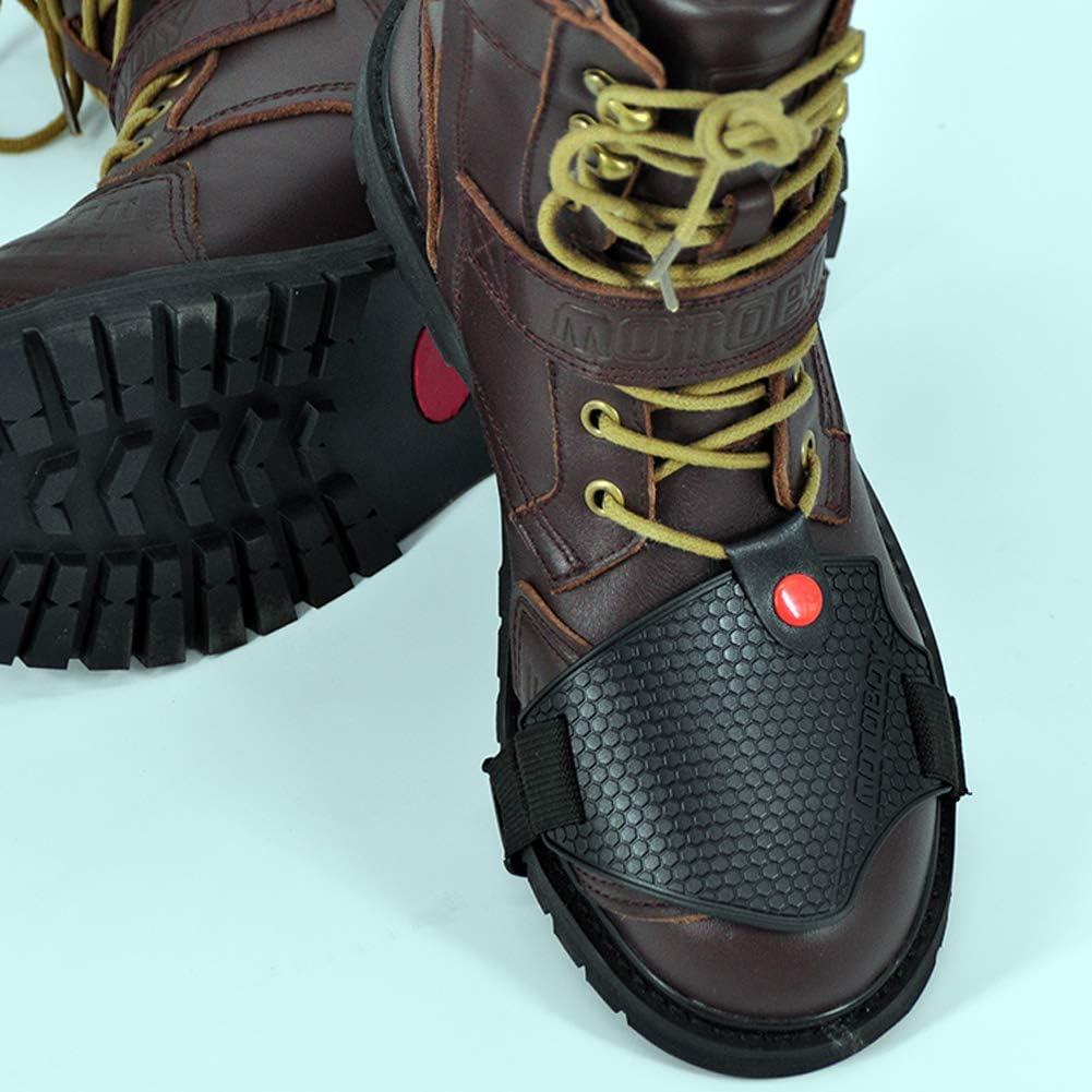 Protecteur de levier de vitesses Accessoires pour Chaussures Bottes de Moto Protector Antid/érapant Asudaro Prot/ège-chaussures pour moto imperm/éable et coupe-vent
