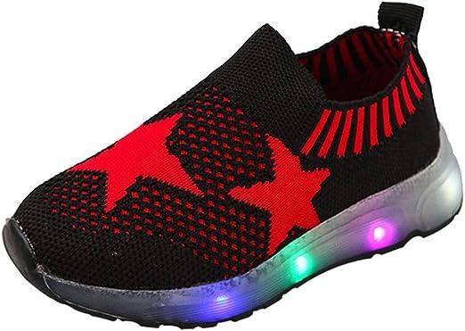 Amazon.com: Zapatillas para niños y niñas con luz LED ...