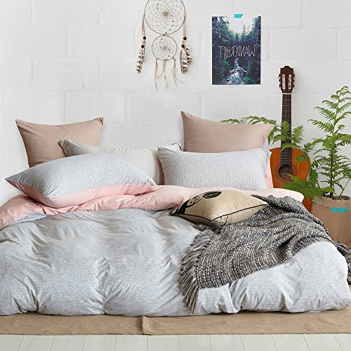 TheFit Paisley Textile Bedding for Adult U642 Love Pink Relax Duvet Cover Set 100% Knited Cotton, Twin Queen King Set, 3-4 Pieces (King) by TheFit