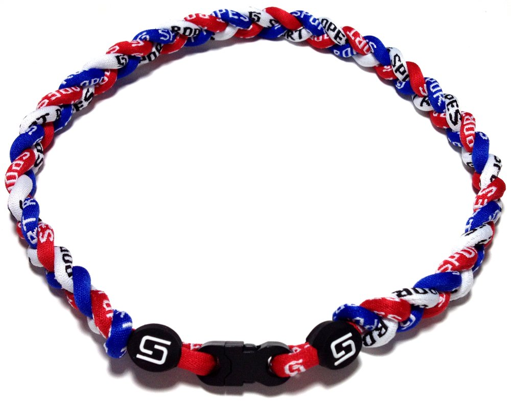 Sport Ropes 3 Rope Titanium Necklace - Choose from Multiple Colors and Sizes