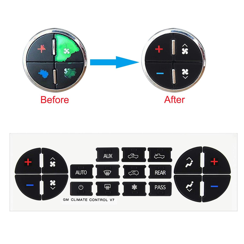 WeiMeet AC Button Repair Kit Button Sticker Radio Button