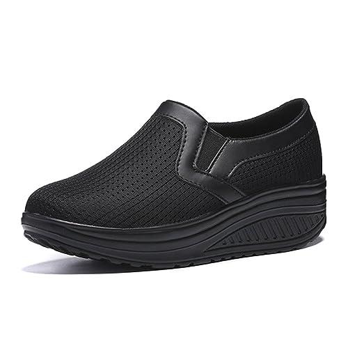 gracosy Zapatos de Mujer Plataforma de Malla Zapatillas de Moda Tenis para niñas de Deporte para