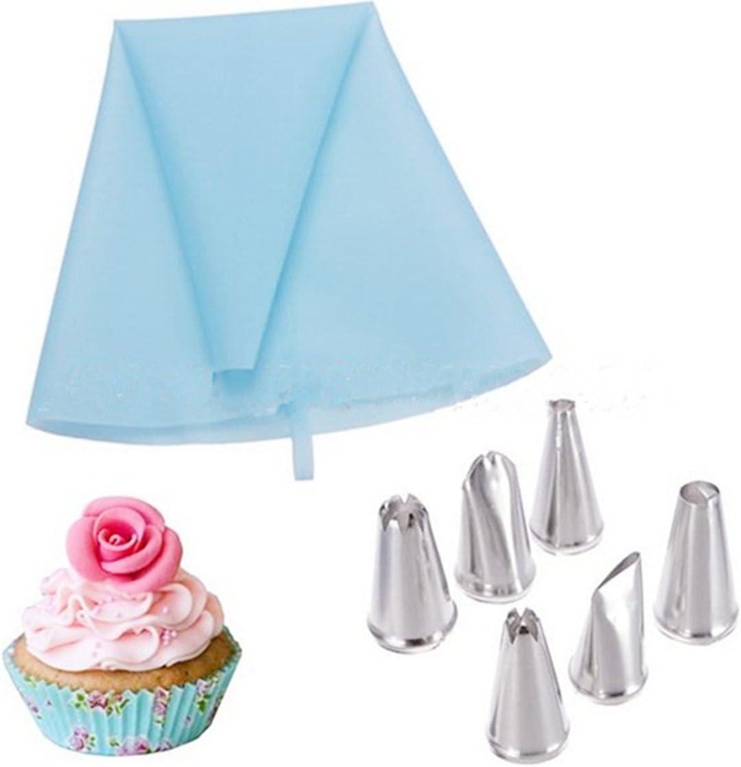 crèmes Poche souple et réutilisable Idéal décoration /& DIY CDC-108 meringues verrines gâteaux 6 embouts en inox Kit pour pâtisserie ✮ CuisineDuChef ✮ Poche à douille silicone