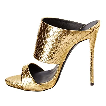 eafd638860961 Amazon.com: KJJDE Premium Women's High Heel Sandals T-43 Heeled ...