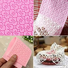 FVIEW Silicone Lace Mold Fondant Embossed Mold Cake Decorating Mould