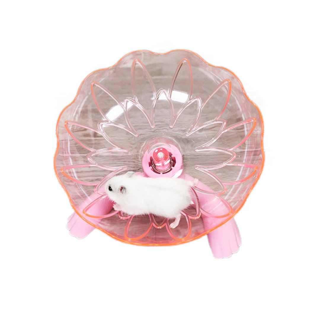 Flying Saucer Exercise Wheel for Small Pets Hamsters (Pink1)