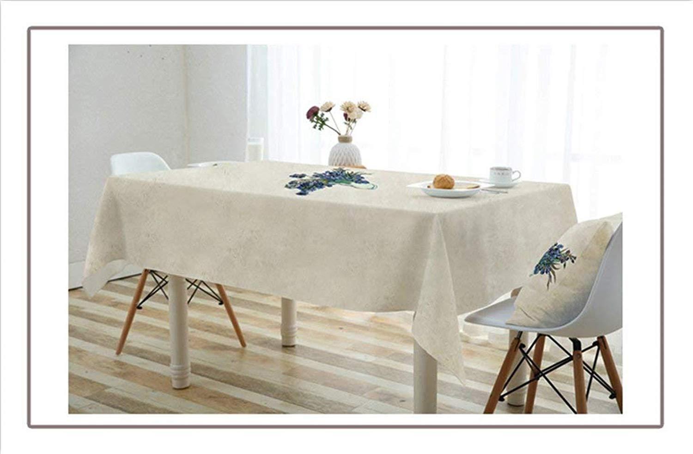 家の装飾布カバー ホームクロスアートテーブルクロスコットンとリネン小さな新鮮なレストラン防水テーブルクロスリビングルームの長方形 テーブルクロス   B07RWBTWYB