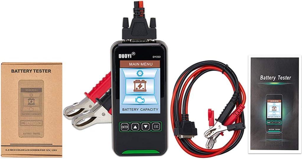 DAIMANPU Capacidad de la batería del Coche Prueba de Resistencia Interna 12V24V Analizador de batería 2000CCA Detector de Prueba de Carga de Arranque DY222