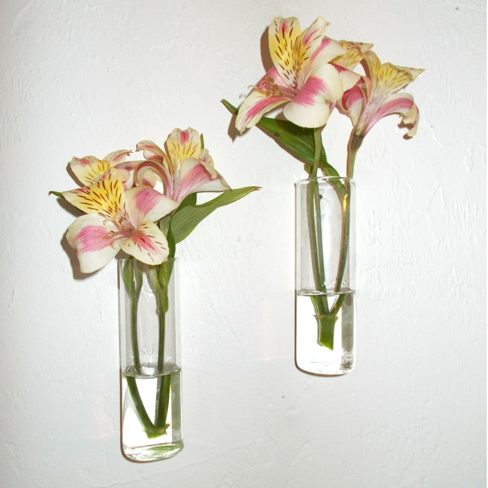 Amazon set of two hand blown glass wall vases home kitchen reviewsmspy