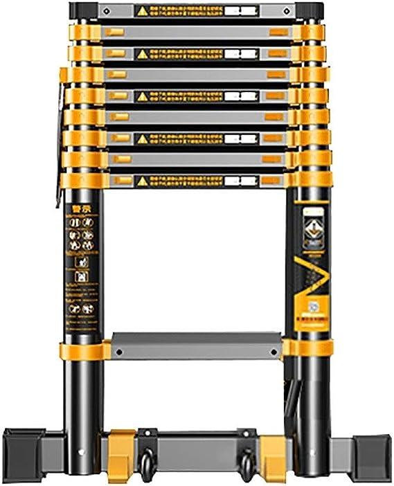 Erru Escalera Telescópica 3.5m/ 4.7m/ 5.9m Escalera Alta Telescópica, Escaleras de Extensión Portátiles con Pies Antideslizantes y Rueda Auxiliar, para el Hogar Loft Tejados (Size : 3.5m/11.5ft): Amazon.es: Hogar