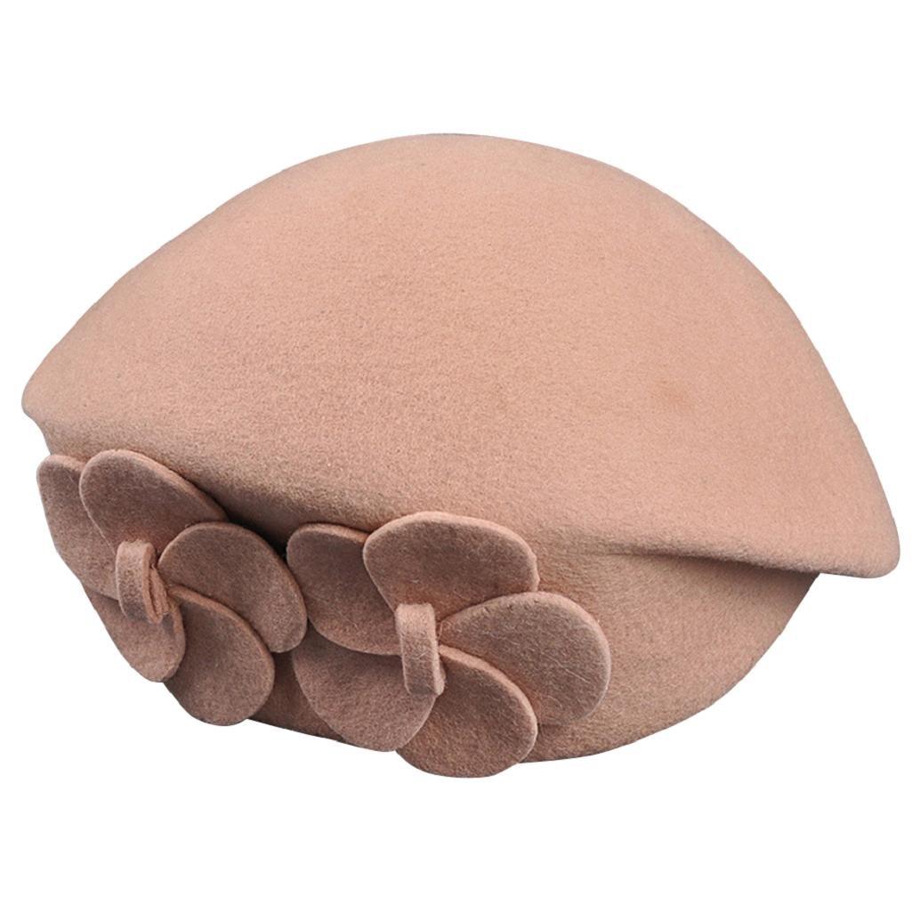 Shineweb Womens Baggy Beanie Hat Double Flower Beret