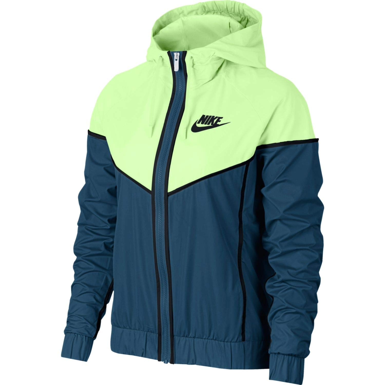 Nike Womens Windrunner Track Jacket Blue Force/Barley Volt/Black 883495-476 Size X-Small by Nike (Image #1)