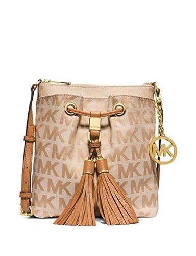 a940a5d630ef Michael Kors Camden Drawstring Crossbody Beige camden darktan  Handbags   Amazon.com
