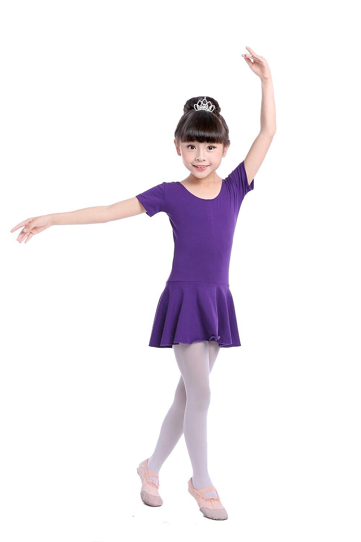 Oniche Balletto Abiti per Ragazza//Donna//Donna Tutu di Balletto Gonne per Abbigliamento da Ballo Balletto Body per Danza Rosa//Lilla