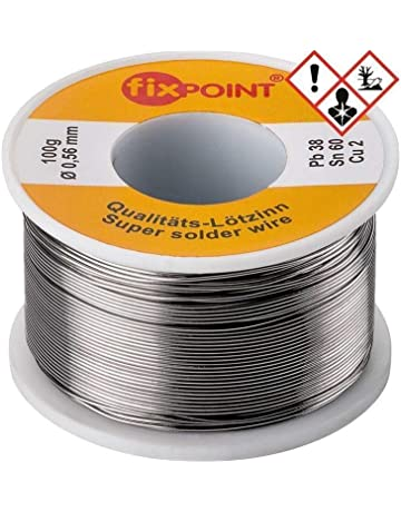Fixpoint 51062 - Hilo de estaño para soldar (0,56 mm de diámetro,