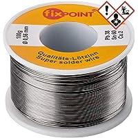 Fixpoint 51062 - Hilo de estaño para soldar (0,56 mm de diámetro, 100 g), color plata