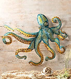 Charmant Handcrafted Metal Octopus Wall Art
