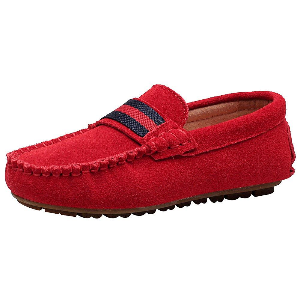 rismart Filles Joli Glisser sur Su/ède Cuir Mocassins Chaussures