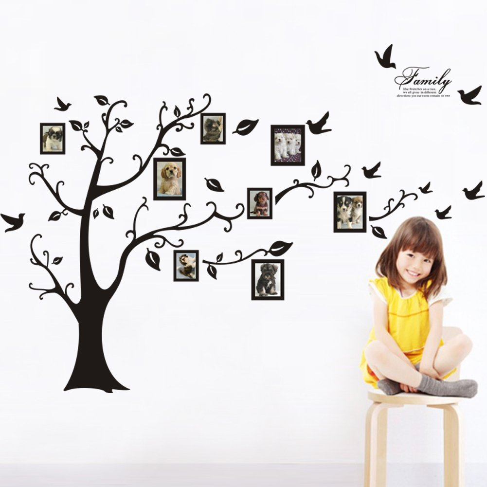 Tree wall decals large personalized family tree decal vinyl wall decal - Amazon Com Sweet Memories Photo Frame Wall Decal Family Tree Photo Gallery Wall Decal Baby