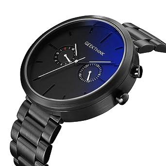 CAOWTAN Sport Watches Analog Mens Top Brand Quartz Wrist Watch Fashion Black Grey (Black White