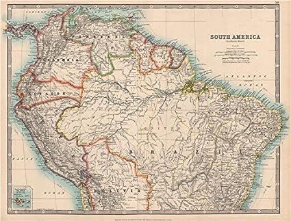 Perú/de Ecuador Fronteras Pre 1941 Guerra. Johnston –