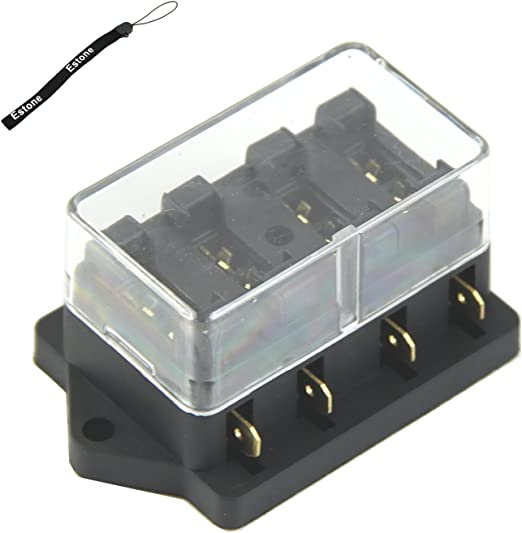 estone 4 way fuse box block fuse holder box car vehicle circuit automotive blade  amazon com davitu 1 set auto fuse box