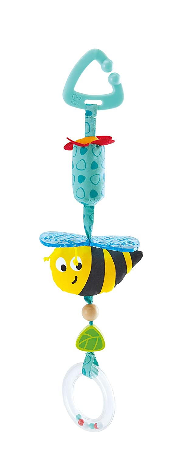 Clip-On Rattle Pram Bassinet and Pushchair Baby Toy Hape Bumblebee Pram Rattle Suitable for Newborns