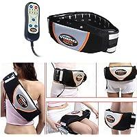 Vinteky Electric Fitness Slimming Massager Machine Waist Trimmer Belt Waist Abdominal Belly Vibro Shape Vibrating Heating Waist Belt for Weight Loss Fat Burning Tool