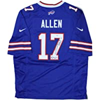 $668 » Authentic Autographed Josh Allen Buffalo Nike On ~ Field Replica Jersey with Bills Mafia Inscription ~ Beckett