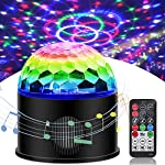 Sound Activated Party Lights with Bluetooth Speaker 9 Colors Dj Lighting Remote Control Disco Ball Light, Strobe Lamp for Home Room Dance Parties Bar Karaoke Xmas Wedding Show Club by Luditek