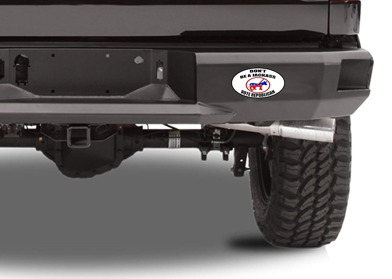 1 Rogue River Tactical KDWVA1092 Dont Be A Jackass Vote Republican President Donald Trump 2020 Election Bumper Sticker Car Decal Conservative American Patriot