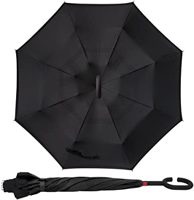 Double Layer Inverted Inverted Umbrella Is Light And Sturdy Grunge Black Scratched Background Old Film Reverse Umbrella And Windproof Umbrella Edge N